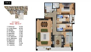 Investment Flats Close to the Sea in Zeytinburnu Istanbul, Property Plans-9