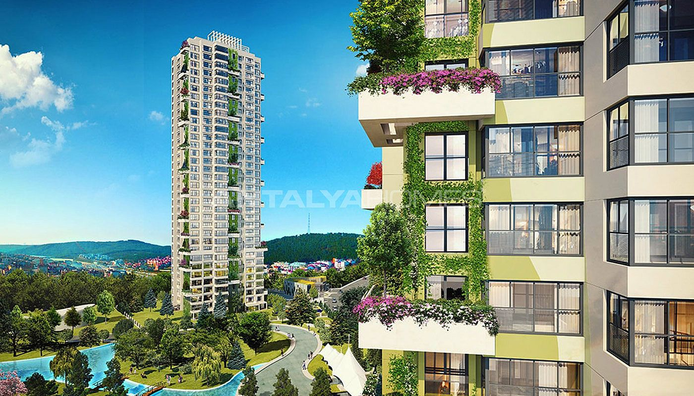 New Istanbul Flats with Rich Infrastructure in Umraniye