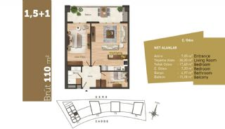 Quality Apartments with High Living Standards in Istanbul, Property Plans-4