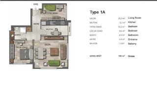 High-Quality Modern Apartments in Istanbul Turkey, Property Plans-1