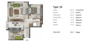 High-Quality Modern Apartments in Istanbul Turkey, Property Plans-2