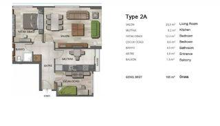 Högkvalitativa Moderna Lägenheter i Istanbul Turkiet, Planritningar-3