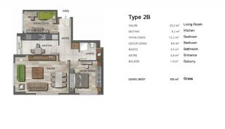 High-Quality Modern Apartments in Istanbul Turkey, Property Plans-4