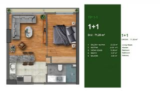 Favorable Apartments Close to All Amenities in Istanbul, Property Plans-1