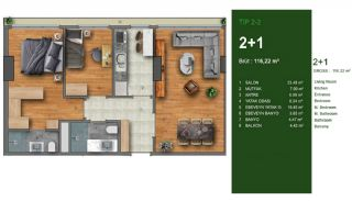 Favorable Apartments Close to All Amenities in Istanbul, Property Plans-2