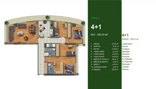 Favorable Apartments Close to All Amenities in Istanbul, Property Plans-4