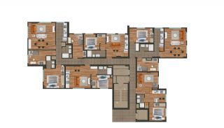 Modern Istanbul Flats 300 mt to the TEM Highway, Property Plans-1