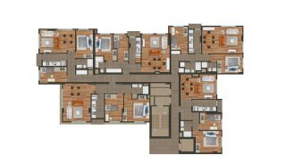 Modern Istanbul Flats 300 mt to the TEM Highway, Property Plans-2