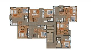 Modern Istanbul Flats 300 mt to the TEM Highway, Property Plans-4