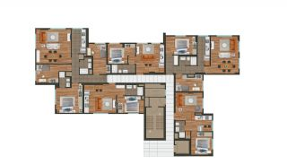 Modern Istanbul Flats 300 mt to the TEM Highway, Property Plans-6