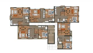 Modern Istanbul Flats 300 mt to the TEM Highway, Property Plans-9