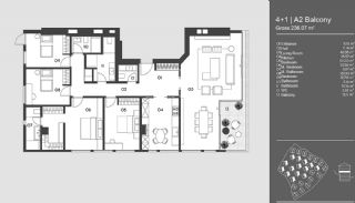 Special Designed Uskudar Apartments with Bosphorus View, Property Plans-2