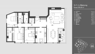 Special Designed Uskudar Apartments with Bosphorus View, Property Plans-4