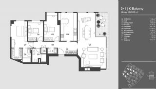 Special Designed Uskudar Apartments with Bosphorus View, Property Plans-5