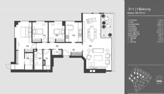 Special Designed Uskudar Apartments with Bosphorus View, Property Plans-7