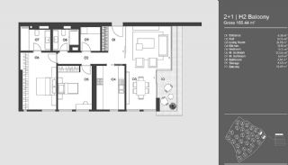 Special Designed Uskudar Apartments with Bosphorus View, Property Plans-8