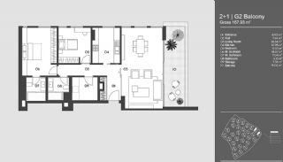Special Designed Uskudar Apartments with Bosphorus View, Property Plans-10