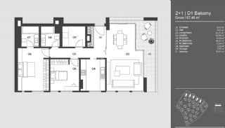 Special Designed Uskudar Apartments with Bosphorus View, Property Plans-15