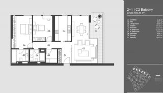 Special Designed Uskudar Apartments with Bosphorus View, Property Plans-16