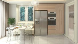 Elegant Apartments Intertwined with Greenery in Istanbul, Interior Photos-5