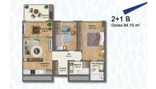 Elegant Apartments Intertwined with Greenery in Istanbul, Property Plans-2