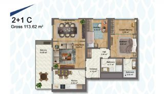 Elegant Apartments Intertwined with Greenery in Istanbul, Property Plans-3