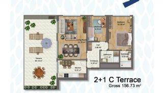 Elegant Apartments Intertwined with Greenery in Istanbul, Property Plans-4