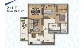 Elegant Apartments Intertwined with Greenery in Istanbul, Property Plans-5