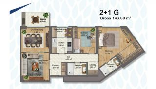 Elegant Apartments Intertwined with Greenery in Istanbul, Property Plans-7