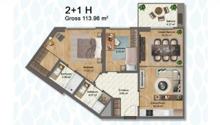 Elegant Apartments Intertwined with Greenery in Istanbul, Property Plans-8
