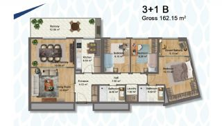 Elegant Apartments Intertwined with Greenery in Istanbul, Property Plans-10