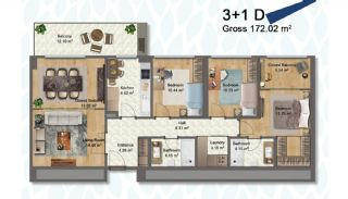 Elegant Apartments Intertwined with Greenery in Istanbul, Property Plans-11