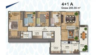 Elegant Apartments Intertwined with Greenery in Istanbul, Property Plans-12