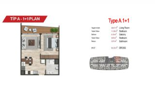 آپارتمان لوکس مرکزی در سمت آسیایی استانبول, پلان ملک-1