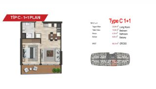 آپارتمان لوکس مرکزی در سمت آسیایی استانبول, پلان ملک-3