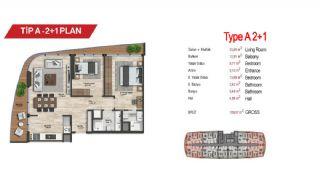 آپارتمان لوکس مرکزی در سمت آسیایی استانبول, پلان ملک-5