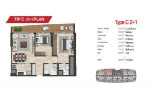 آپارتمان لوکس مرکزی در سمت آسیایی استانبول, پلان ملک-7