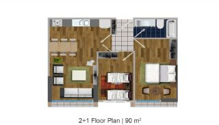 Modern Apartments in the Desirable Location of Esenyurt, Property Plans-2