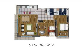 Modern Apartments in the Desirable Location of Esenyurt, Property Plans-5