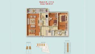 Eigentijdse Istanbul Appartementen met Gescheiden Keuken, Vloer Plannen-1