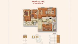 Eigentijdse Istanbul Appartementen met Gescheiden Keuken, Vloer Plannen-3