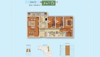 Eigentijdse Istanbul Appartementen met Gescheiden Keuken, Vloer Plannen-5