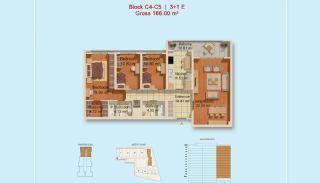 Eigentijdse Istanbul Appartementen met Gescheiden Keuken, Vloer Plannen-6