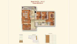 Eigentijdse Istanbul Appartementen met Gescheiden Keuken, Vloer Plannen-8