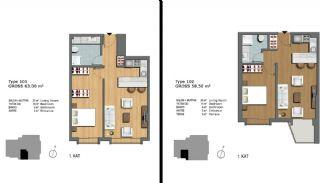 Eerste Klas Istanbul Appartementen Bieden Comfortabel Wonen, Vloer Plannen-1