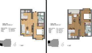 Eerste Klas Istanbul Appartementen Bieden Comfortabel Wonen, Vloer Plannen-2