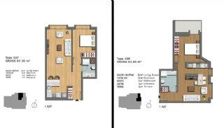 Eerste Klas Istanbul Appartementen Bieden Comfortabel Wonen, Vloer Plannen-3