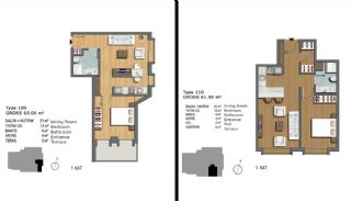 Eerste Klas Istanbul Appartementen Bieden Comfortabel Wonen, Vloer Plannen-4