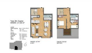 Eerste Klas Istanbul Appartementen Bieden Comfortabel Wonen, Vloer Plannen-5