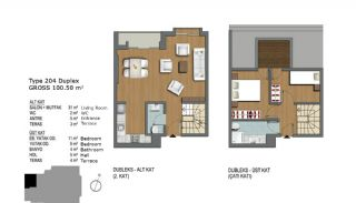 First-Class Flats Offering Comfortable Living in Istanbul, Property Plans-8